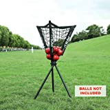 Pinty Baseball/Softball Caddy for Batting & Pitching Portable & Removable Ball Holder with Carry Bag Holds up to 60 Baseballs Instant Setup