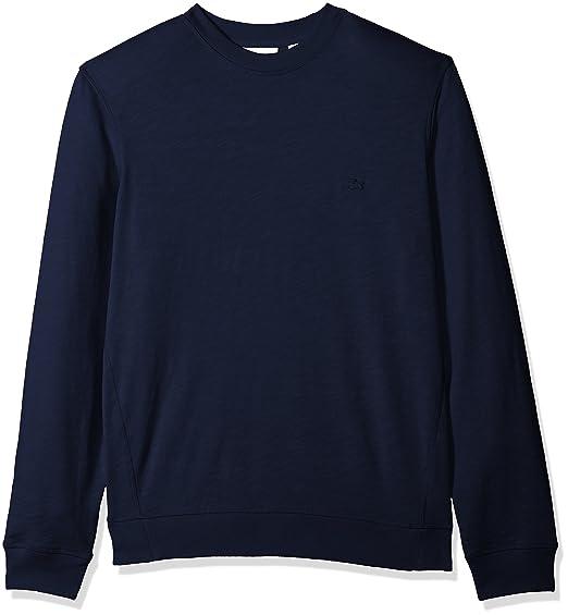 457676b0 Lacoste Men's Long Sleeve Light French Terry Tonal Croc Sweatshirt, SH3298