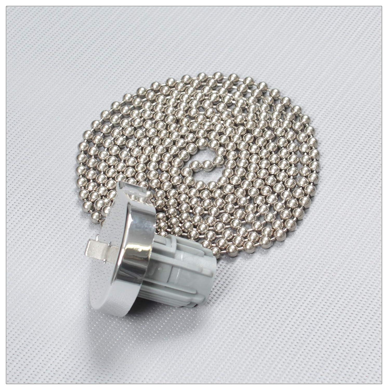 Bedienl/änge Farbe: Silber : ca L/änge der Endloskette 100cm mit Metallkette EFIXS Montageset f/ür Rollos mit 25mm Rollowelle