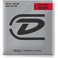 Dunlop DBSBN45105 Super Bright Bass Strings, Nickel Wound, Medium.045–.105, 4 Strings/Set