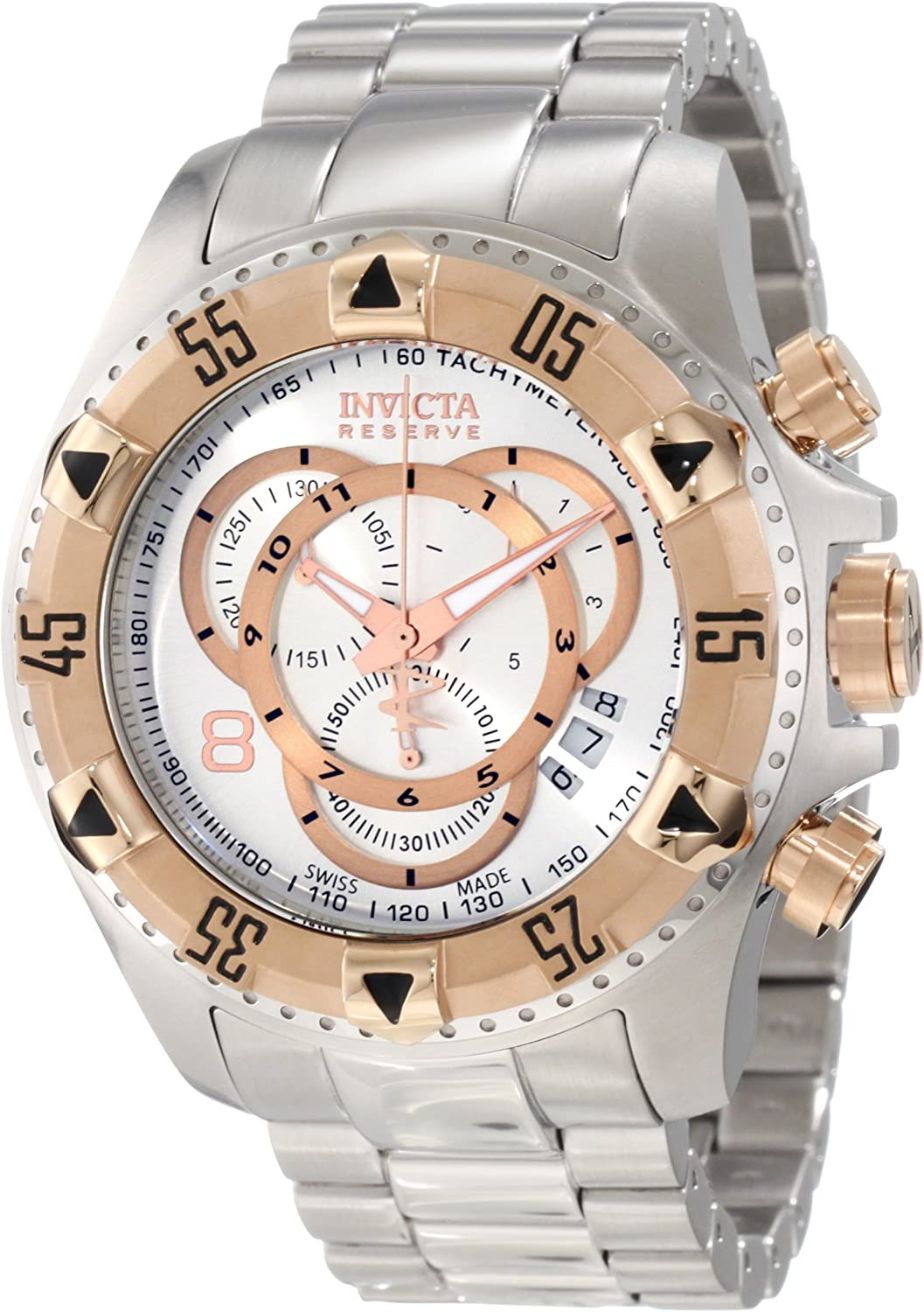 Invicta Men s 1880 Excursion S1 Chronograph Silver Dial Stainless Steel Watch