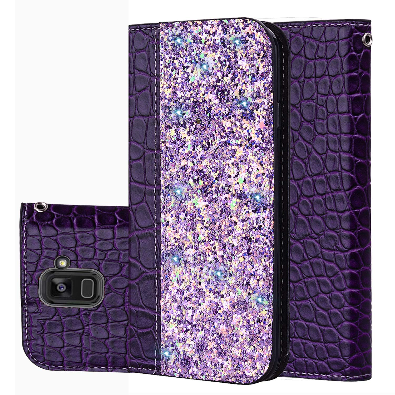 fü r Smartphone Samsung Galaxy A8 (2018) Hü lle, Leder Tasche fü r Samsung Galaxy A8 (2018) (5.6' Zoll) Flip Cover Handyhü lle Bookstyle mit Magnet Kartenfä cher Standfunktion (1) Laoke