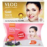 VLCC Gold Facial Kit, 60g with Free Party Glow Facial Kit, 60g