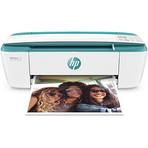 HP Deskjet 3735 Impresora multifunción inalámbrica Tinta Wi Fi copiar escanear 1200 x 1200 PPP Modo silencioso Incluido 3 Meses de HP Instant Ink Color Blanco y Verde