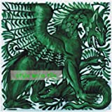 fireplace surrounds murals and mosaics Beautiful Art and Crafts William De Morgan Emerald Green Gothic Dragon 8//200mm ceramic tile suitable for kitchens bathrooms splash backs