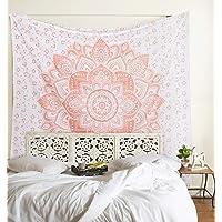 Madhu International Mandala Tapestry Psychedelic Floral Medallion Hippie Medium Tapestries Bohemian Wall Hanging Indian…