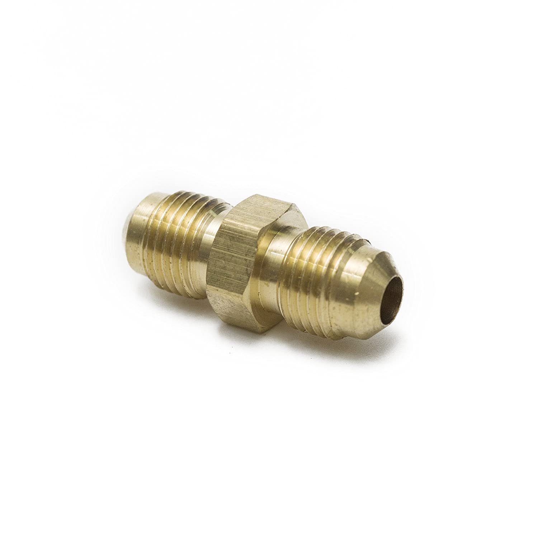 Pack of 5 LTWFITTING Brass 5//16 OD Flare Union,Brass Flare Tube Fitting