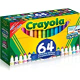 Crayola 64 ct. Ultra-Clean Washable, Broad Line Markers, Variety Pack , Ages 4, 5, 6
