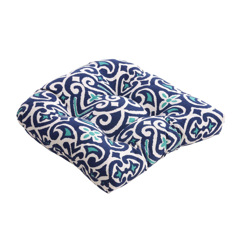 Amazon.com: Pillow Perfect Blue/White Damask Chair Cushion: Home U0026 Kitchen
