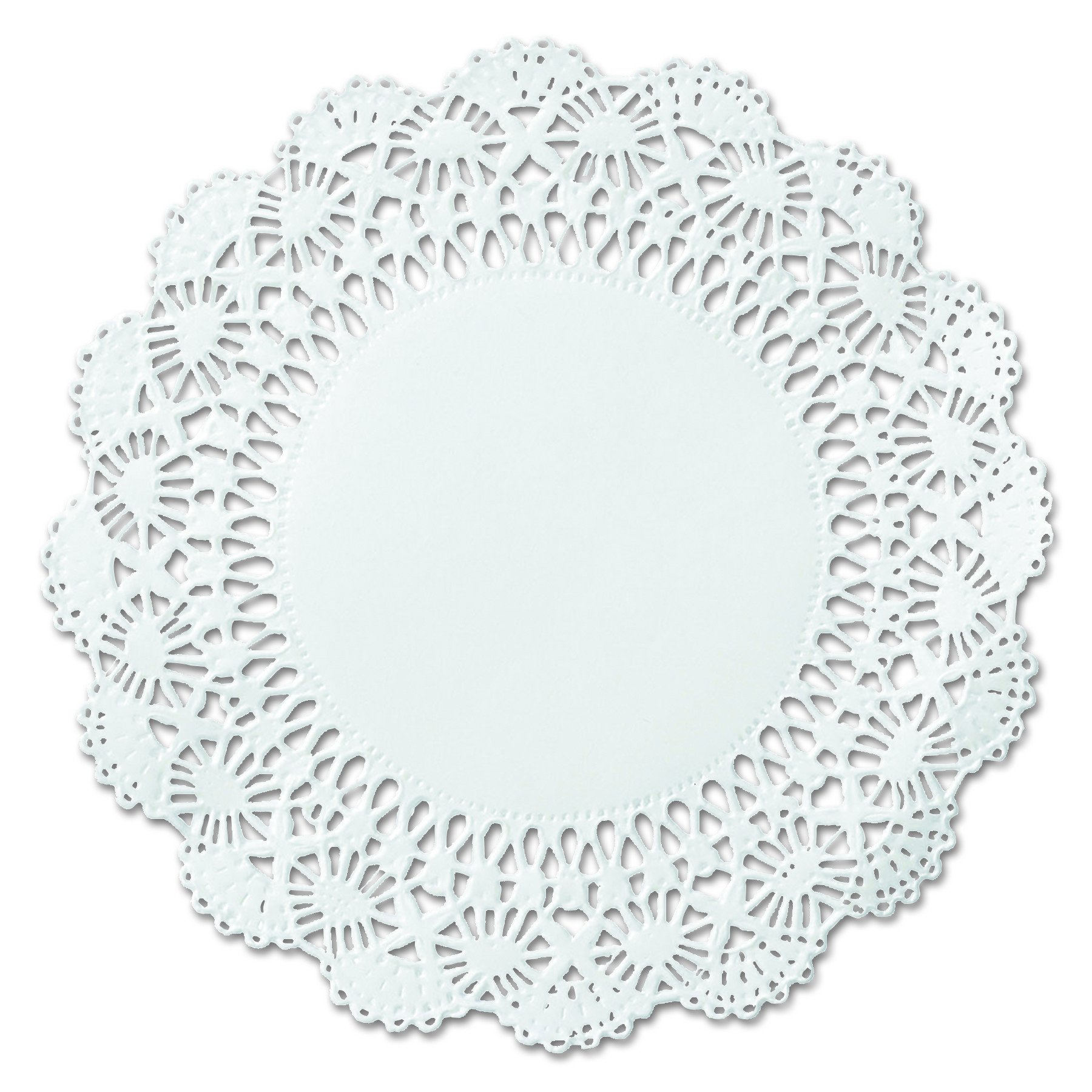 Hoffmaster 500239 12'' White Round Cambridge Lace Doily (Case of 1,000) by Hoffmaster