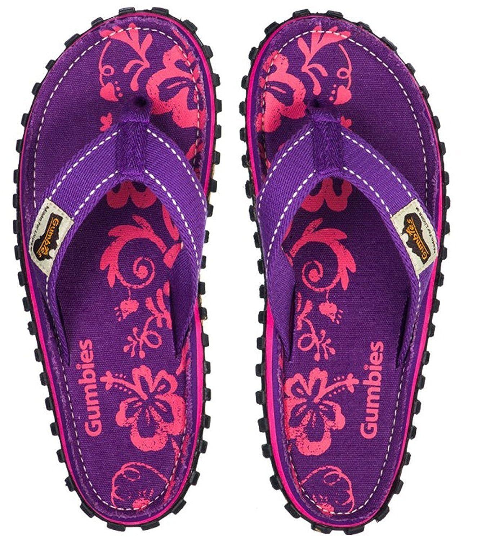 Gumbies Islander Sandale purple hibiscus EU 42 VRmCI9Vq
