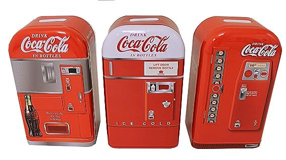 Amazon.com: Caja de lata 1950s Coca-Cola máquina expendedora ...
