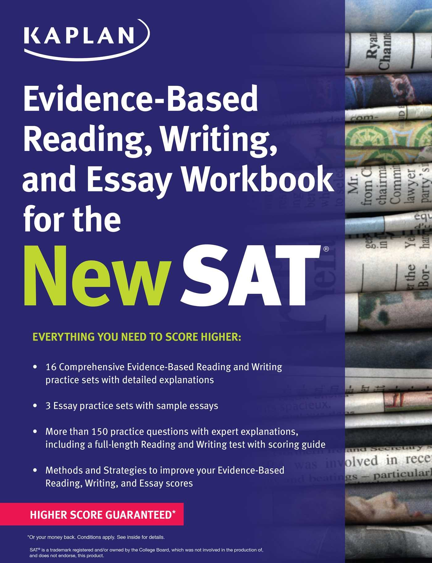 kaplan evidence based reading writing and essay workbook for the kaplan evidence based reading writing and essay workbook for the new sat kaplan test prep kaplan test prep 9781625231574 amazon com books