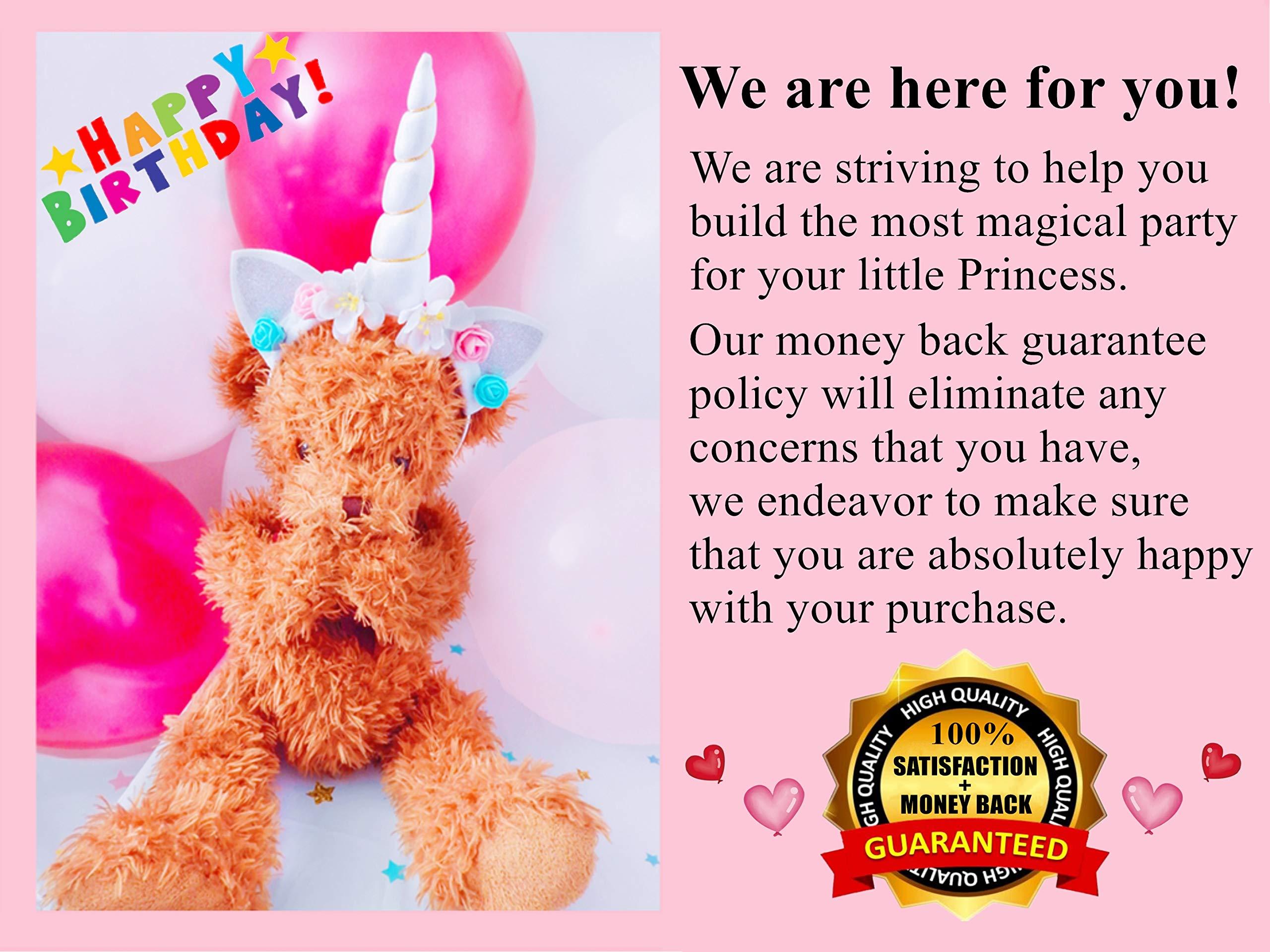 Unicorn Party Supplies Set with BONUS Glittery Unicorn Headband and 30 Balloons   145 Piece Disposable Unicorn Themed… 7