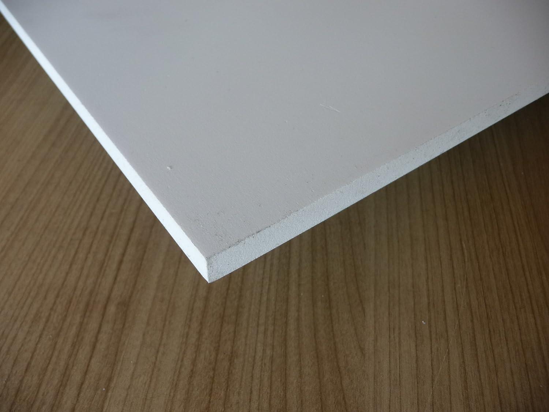 1000 x 500 x 10 mm wei/ß Zuschnitt alt-intech/® Restst/ücke Platte aus PVC Hartschaum