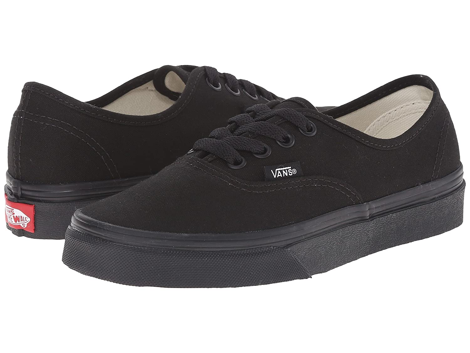 Vans Unisex Authentic Canvas Shoes B0771THQXD 8 D(M) US|Black and Black
