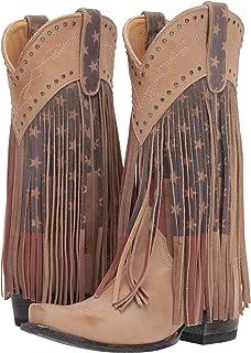 1375e2f2a30 Amazon.com | ROPER Women's American Beauty Fringe Western Boot | Mid ...