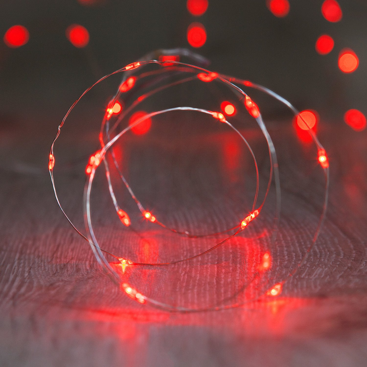 Battery Operated Fairy Lights with 20 Micro Warm White LEDs on Copper Wire by Lights4fun