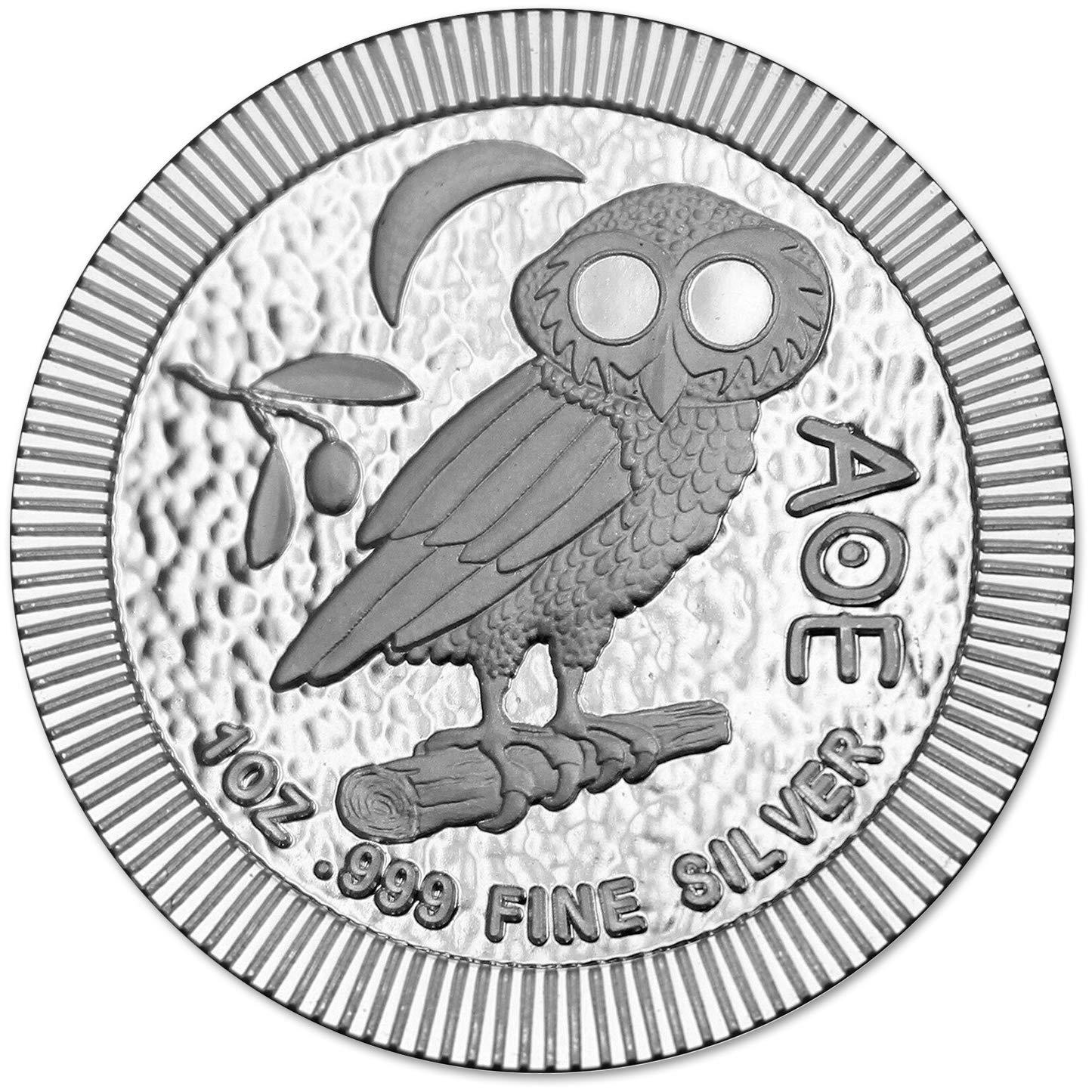 "New 1 GRAM .999 FINE SOLID SILVER BULLION ART-BAR Mint: /"" OWL /"""