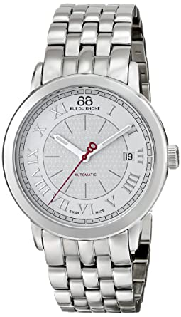 88 Rue du Rhone Mens 87WA120031 Analog Display Swiss Automatic Silver Watch