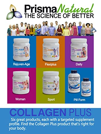 Amazon.com: Prisma Natural Daily Collagen +Organic Silicon Supplement, 180 Tablets, Type I Marine-Based Hydrolyzed Peptides with Silicon and Magnesium for ...