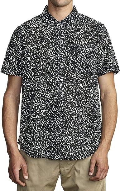 RVCA Presidio - Camisa con Botones para Hombre: Amazon.es: Ropa y accesorios