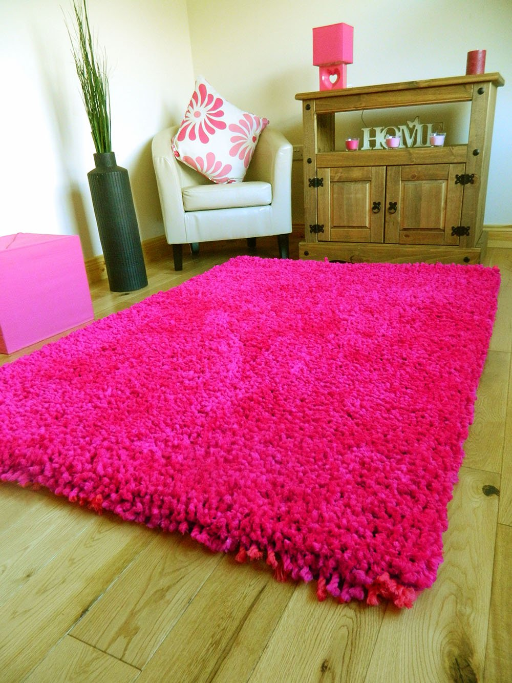 bright hot pink extra thick heavy chunky cm pile soft luxurious shaggymodern area bedroom hall rug runner mat small  xx large ( x  cms(' x . bright hot pink extra thick heavy chunky cm pile soft luxurious