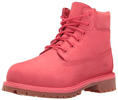 Timberland Kids Girl s 6 quot  Premium Waterproof Boot (Little Kid) Light  Cardinal Waterbuck Boot 34df1b7c80