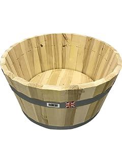 Click Deck Wooden Hardwood Garden Planters Set Of 3 Small Medium