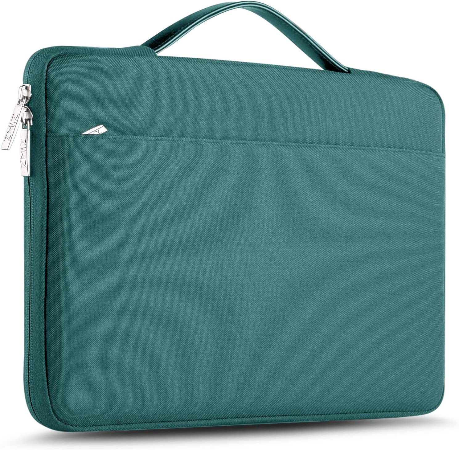 "ZINZ Laptop Sleeve 15 15.6 16 Inch Case Briefcase, Compatible MacBook Pro 16 15.4 inch, Surface Book 2/1 15"" Super Slim Spill-Resistant Handbag for Most Popular 15""-16"" Notebooks, Dark Green"