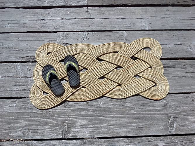 34u0026quot; X 20u0026quot; Rope Rug Doormat Rope Rug Tightly Knotted Handmade ...