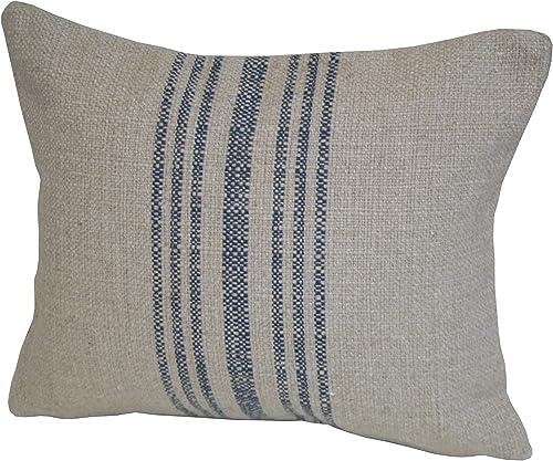 Rennie Rose Hobie Stripe Lumbar Pillow, Blue