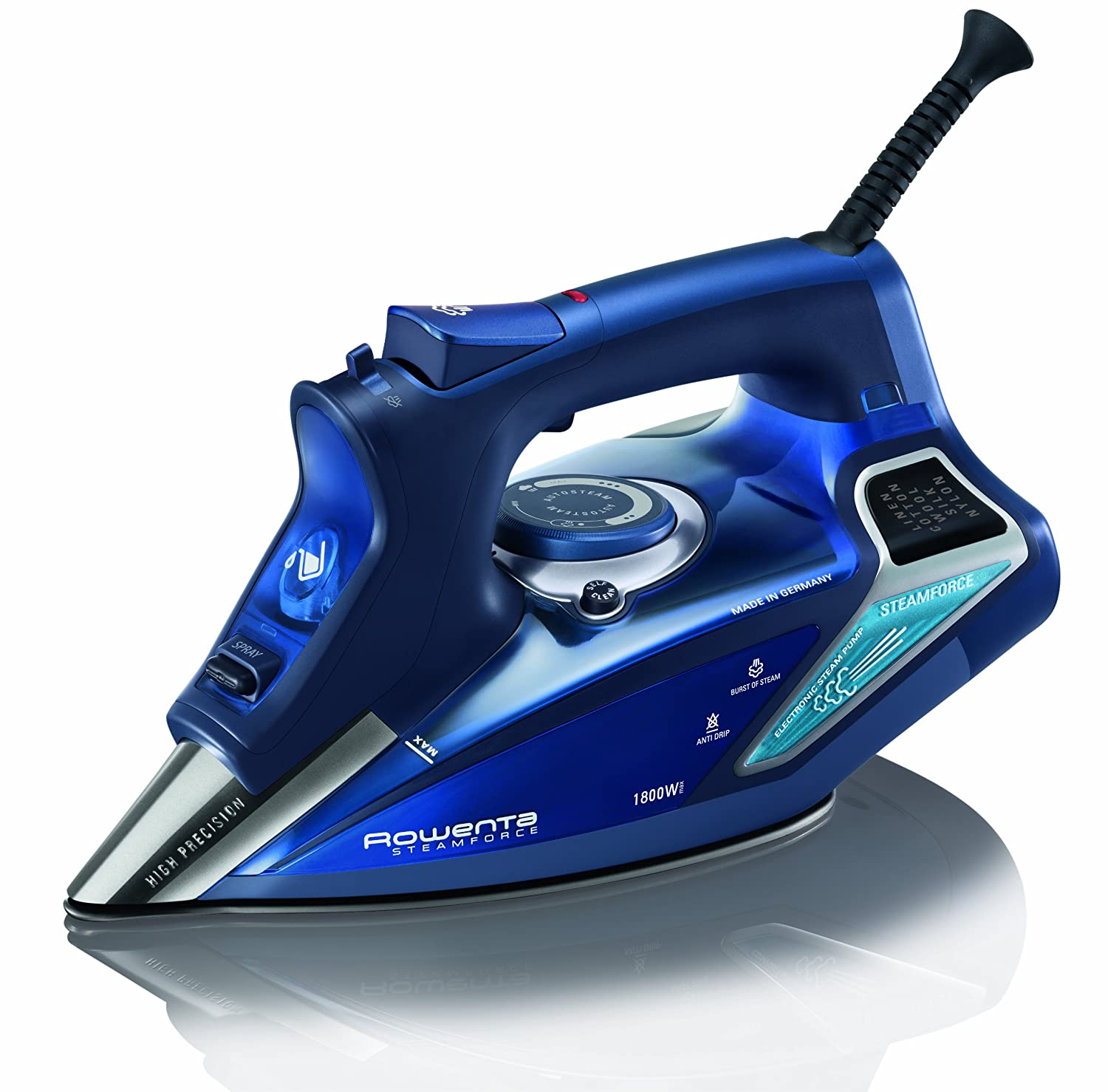 Rowenta Dw9280U1 Steam Force Iron, Blue Groupe SEB 1110030616