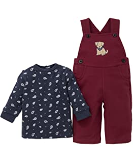 4a7ff429d233 Amazon.com  Little Me Baby Boys  Overall Set  Clothing