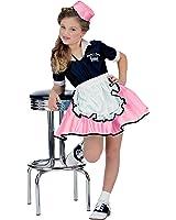 Pink Child 50s Car Hop Girl Costume