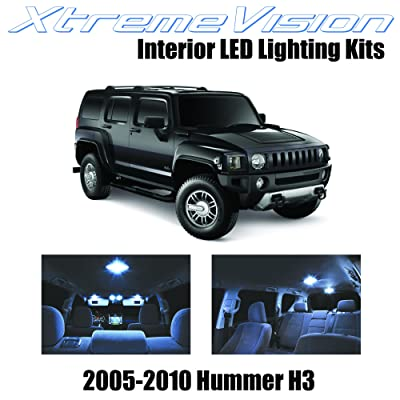XtremeVision Interior LED for Hummer H3 2005-2010 (15 Pieces) Cool White Interior LED Kit + Installation Tool: Automotive