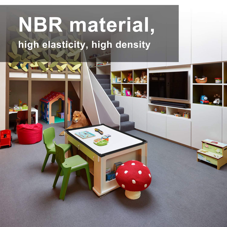 Bloqueo infantil extra suave esquinas protección de seguridad infantil mesa de vidrio muebles