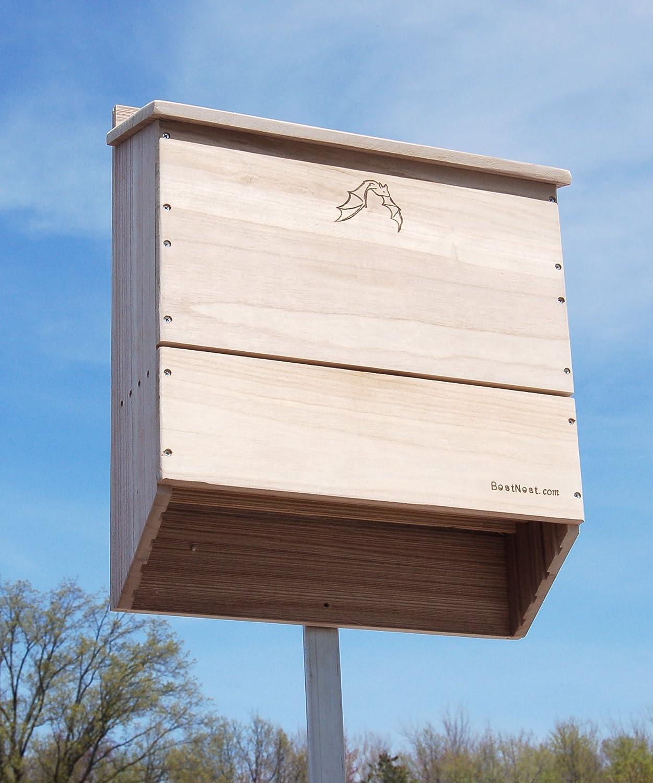 Large garden Bat Box house grooved ladder wildlife nesting chamber protection
