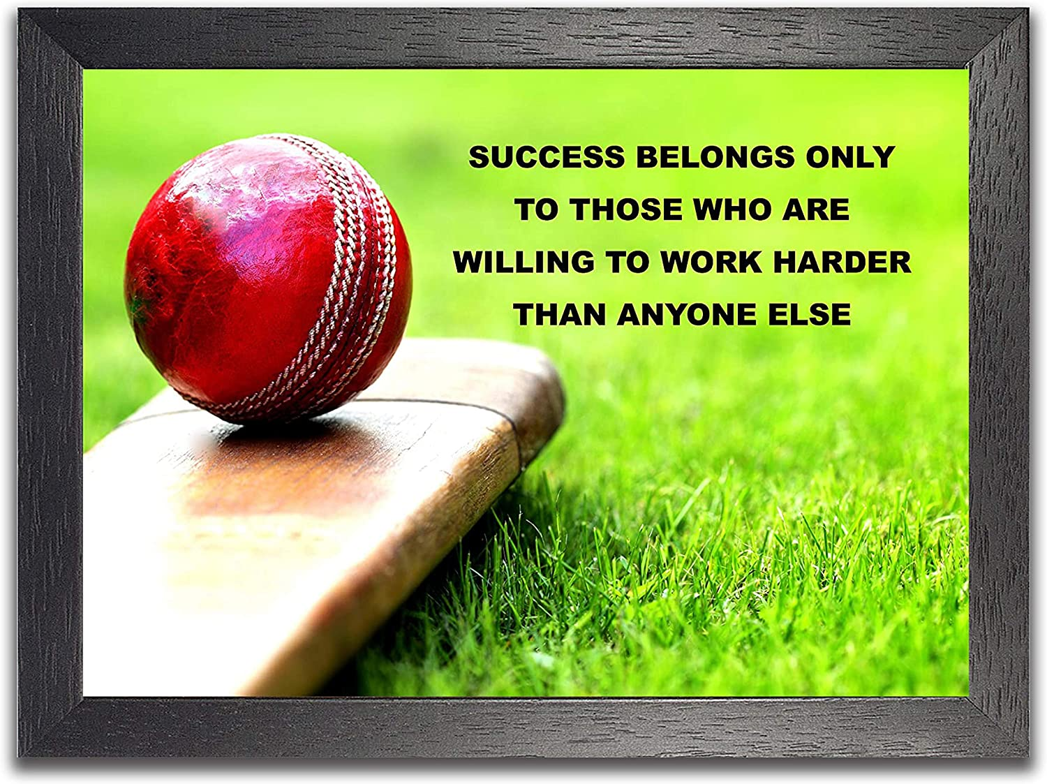 Cricket (Success Belongs) Inspirational Motivational Quote Sign