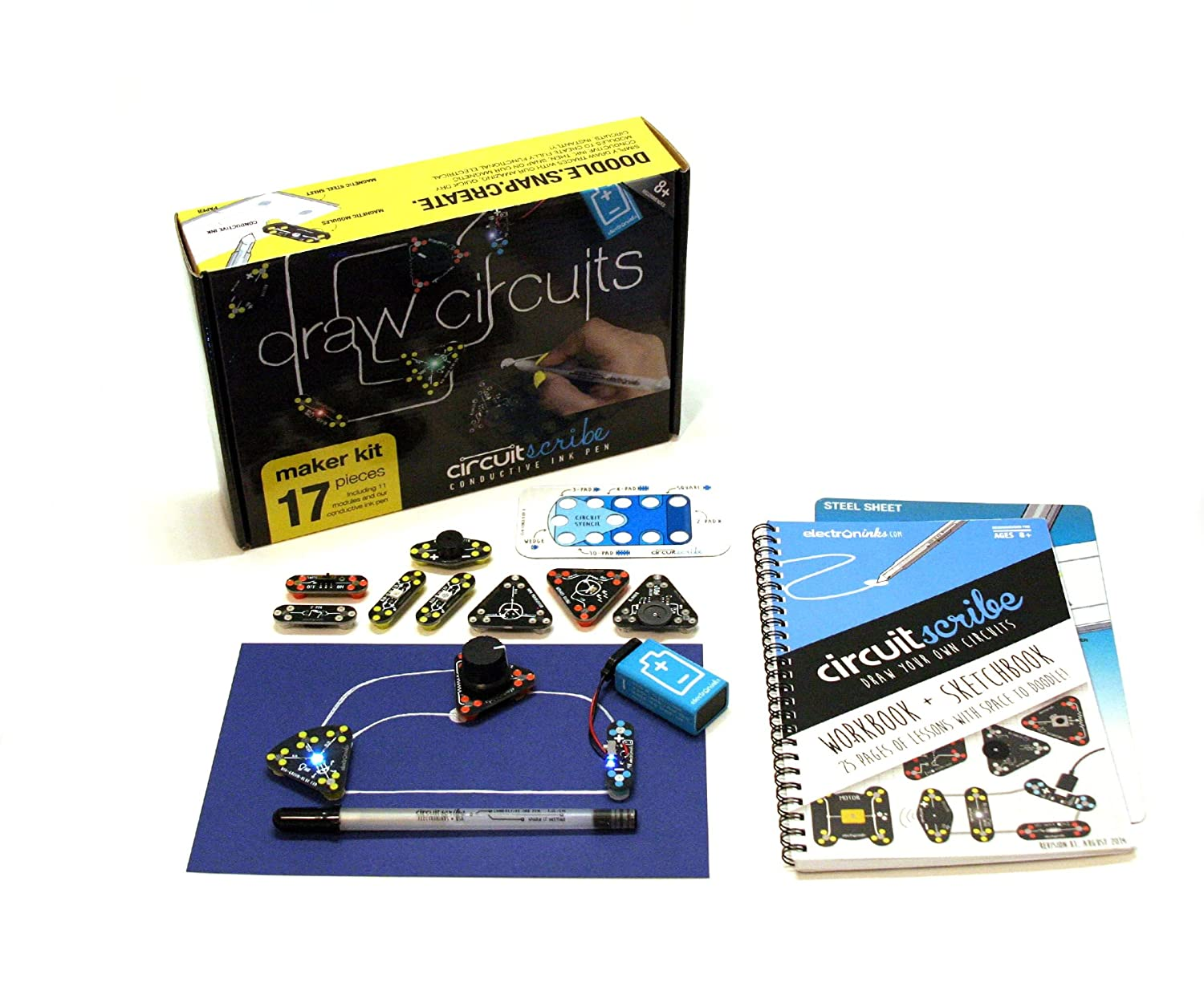 Circuit Scribe Maker Kit Includes Stem Workbook Project Simulation Electronic Circuits Electronics Conductive Silver Ink Pen And Everything You Need To Learn Explore Create Your Own