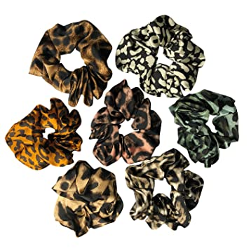 Adults and Kids Polycotton Leopard Print Scrunchie Animal 15 Hair Accessories Hair Fashion Hair Tie Animal Print