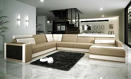 VIG Furniture VGEV SP 1003 Divani Casa 1003   Modern Bonded Leather  Sectional