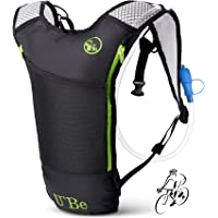U'Be Hydration Pack - Hydration Backpack - Camel Pack Water Backpack with Insulated 2l Bladder for Women Men Kids Backpacking - Small Lightweight Water Reservoir for Running Hiking Cycling