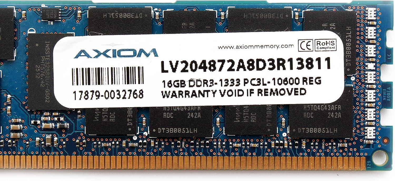 AXIOM 16GB PC3L-10600R DDR3-1333 Registered ECC 1.35V Memory LV204872A8D3R13811