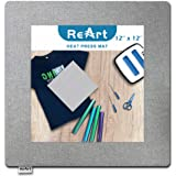 """Heat Press Mat for Cricut Easypress Both Sides Applicable - 12"""" x 12"""" Cricket Craft Vinyl Ironing Insulation Transfer…"""