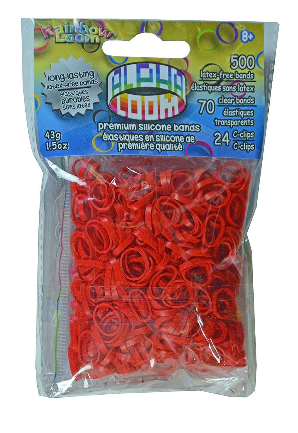 Rainbow Loom Alpha Bands Craft Accessory Red