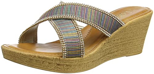 566f92de34e20 Lotus Women's Arika Open-Toe Sandals, Multicolour (Rainbow New), 7 ...