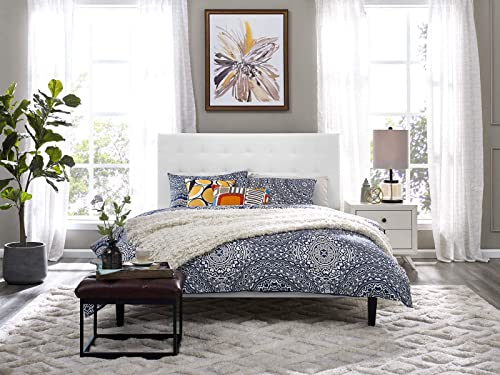 Modway Paisley Upholstered Tufted Faux Leather King and California King Headboard Size in White