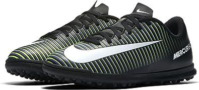 sports shoes bceed d1e0e Nike Unisex-Kinder Mercurial Vortex III TF Fußballschuhe, Schwarz  (Black/Wht-
