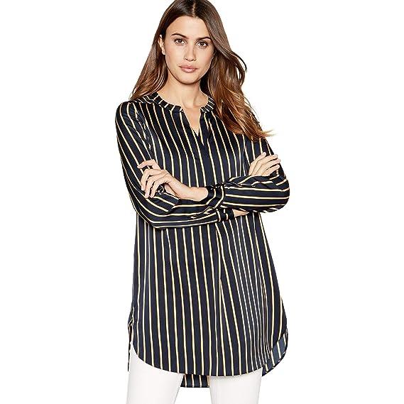 e10bd3cb3aba Principles Womens Black Pinstripe Longline Shirt  Principles  Amazon.co.uk   Clothing